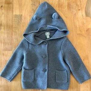 Baby Gap hooded button sweater